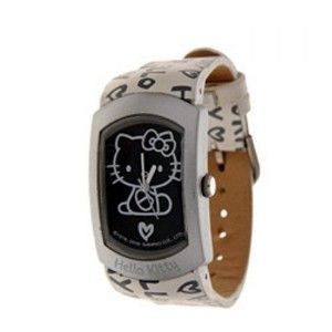 Montre Hello kitty logo fond noir