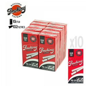 10 Etuis de Filtres Slim en Stick - Smoking