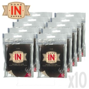Lot de 10 Sachets de 160 Filtres Slim DONE IN PAPER