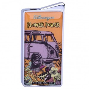 Briquet Gaz Volkswagen - Flower Power Orange