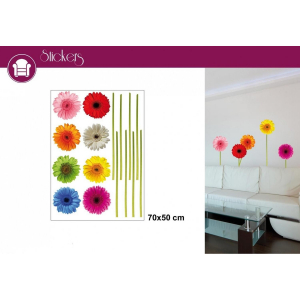 Stickers Fleurs multicolores