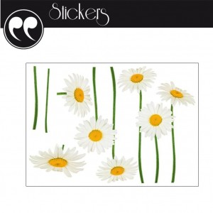 Stickers Mural - Marguerites