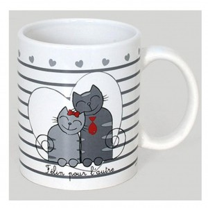 Mug 320 ml avec Couple de Chats - Collection Félin