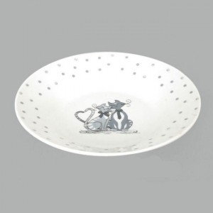 Assiette creuse Collection mistigris