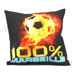 Coussin Carré Football - 100 % Marseille