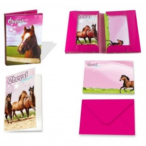 Coffret Invitations Cheval