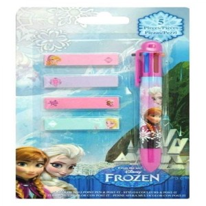 FROZEN La Reine des Neige - 1 Stylo 6 Couleurs + Post-It