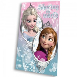Disney - Frozen - Couverture Polaire bleu Anna & Elsa Sharing the World