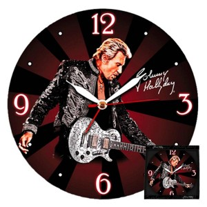Pendule Johnny Hallyday Show Man