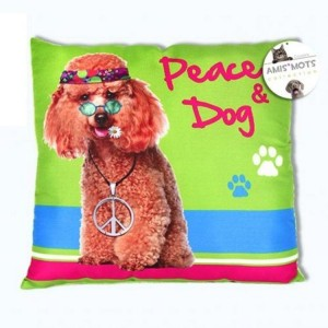 Coussin Peace & Dog - Amis Mots