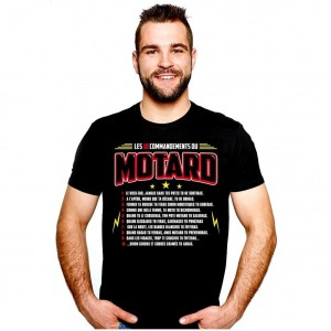 T-Shirt - Les 10 Commandements du Motard