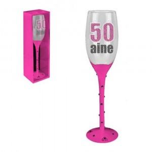 Flute Champagne 50 Ans Rose