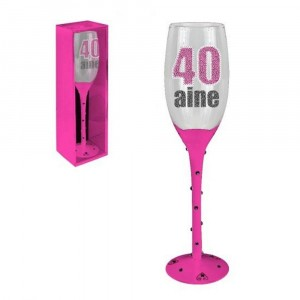 Flute Champagne 40 Ans Rose