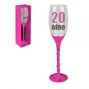 Flute Champagne 20 Ans Rose