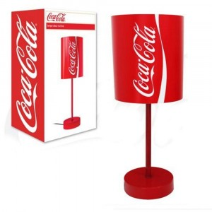 Lampe Cylindrique Coca Cola Rouge