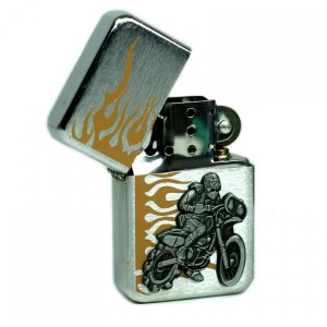 Briquet Essence - Biker Orange