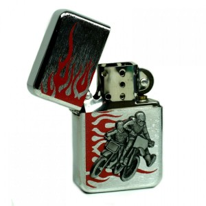 Briquet Essence - Motocross en Relief