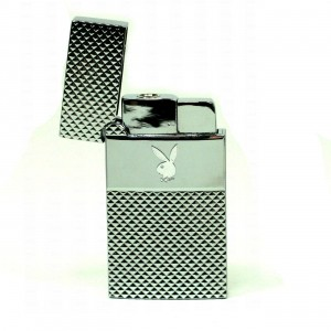 Briquet Windproof  - Lapin Playboy Inox