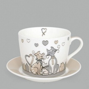 Soucoupe et tasse collection Kid Cat