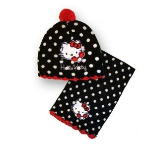 Bonnet Avec Echarpe Hello Kitty (A)