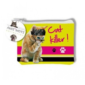 Porte Monnaie Cat killer