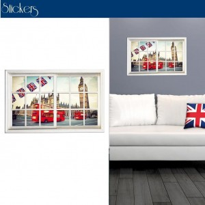Stickers Trompe l'oeil Big Ben