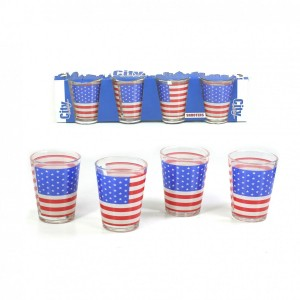 Pack 4 Verres Shooters USA