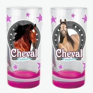 Lot de 2 verres Cheval Passion