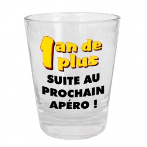Verre Shooter - 1an de plus