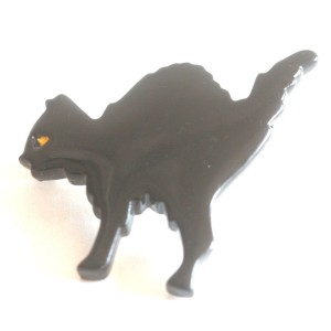 Broche Halloween - Chat Noir