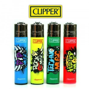 Lot de 4 briquets Tag Music  - Clipper