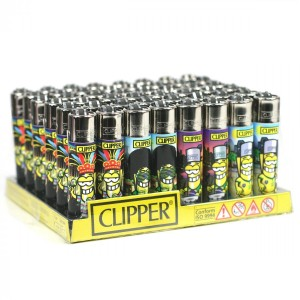 Boite de 48 briquets Clipper Clipperman All Around the world série 2
