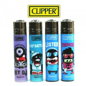 Lot de 4 briquets - Clipper Music & Rap Battle