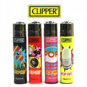 Lot de 4 briquets - Clipper Pop Art (Serie 2)