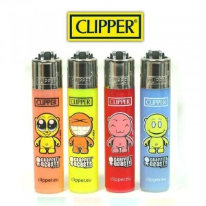 Lot de 4 Mini Clipper - Graffiti Beast