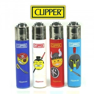 Lot de 4 Mini Clipper - Guerriers
