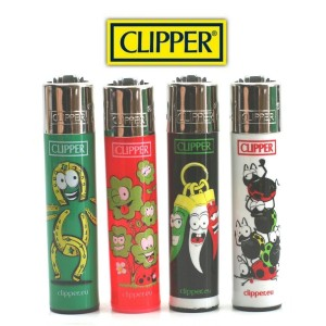 Lot de 4 Briquets Clipper - Collection Fortuna