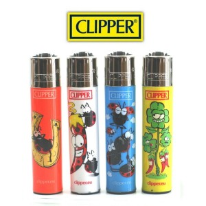 Lot de 4 Briquets Clipper - Fortuna
