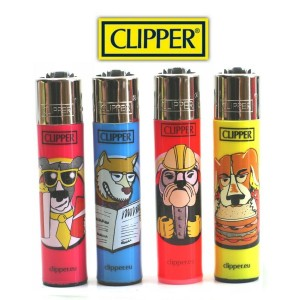 Lot de 4 Briquets Clipper - Human Cats & Dogs (Serie 1)