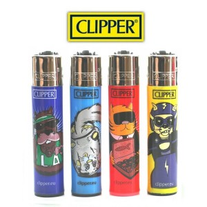 Lot de 4 Briquets Clipper - Human Cats & Dogs (Serie 2)