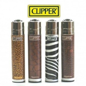 Lot de 4 Briquets Clipper - Savane