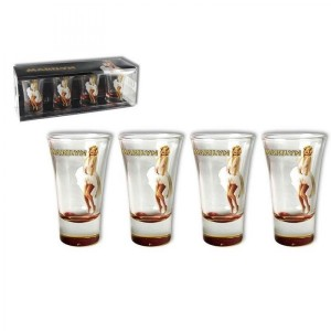 Coffret 4 Shooters Paillettes Marilyn