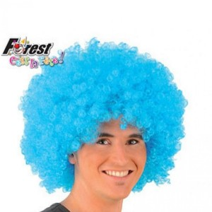 Perruque Afro Bleue