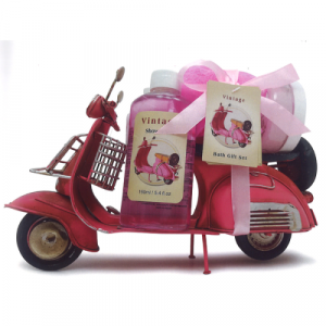 Set de Toilette Rose - Vespa Rouge Metal