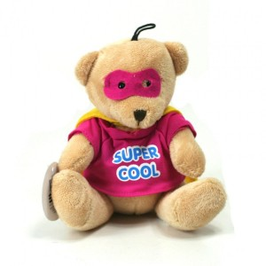Peluche Mini Super - Super Cool - Rose
