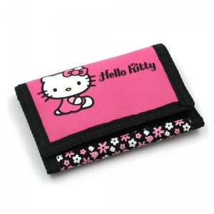 Portefeuille Noir & Rose - Hello Kitty