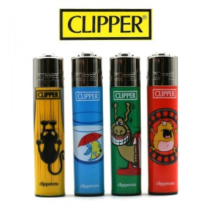 Lot de 4 Briquets Clipper - Animals Company