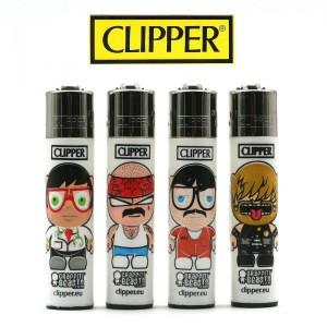 Lot de 4 Briquets Clipper - Graffiti Beasts ( Chicanos, Innocent, etc...)