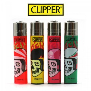 Lot de 4 Briquets Clipper - Skulls 11