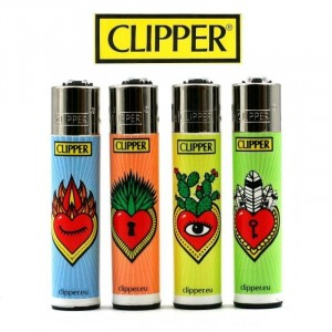 Lot de 4 Briquets Clipper - VIP Corazones